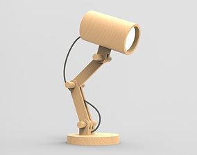 Wooden modular lamp 3D model