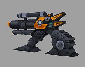 3D model VR / AR ready machine gun