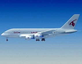 Qatar Airways 3D Model