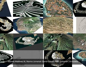 Islands Maldives AL Marina Jumeirah Santa Catalin Palm 3D