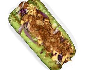 Green Hot Dog 3D