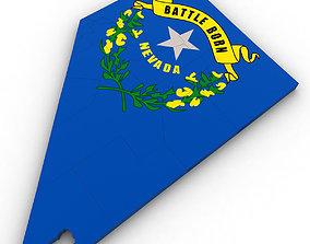 3D Nevada Political Map
