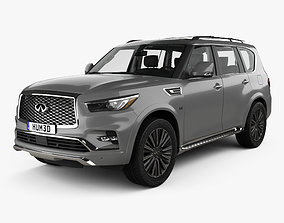 3D Infiniti QX80 Limited with HQ interior 2019