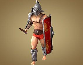 Gladiator Murmillo 3D asset