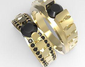3D printable model Wavy Pattern diamond Ring