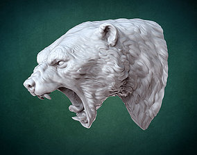 Bust of Polar bear 3D printable model