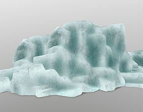 3D asset low-poly ice rocks