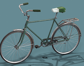 3D asset Vintage bicycle Schwinn Low poly