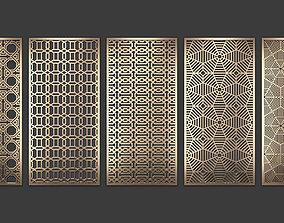 3D model Decorative panel set 76