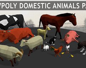 Lowpoly Farm Animals 3D model