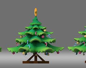 cartoon Christmas tree Pine tree conifer 3D