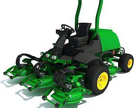 Green Lawn Mower 3D Model