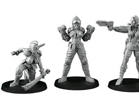 3D printable model Cyber girls