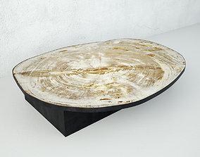 3D Petrified Wood Slice Coffee Table 2