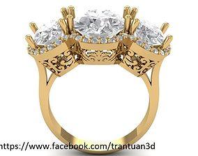women 79 Luxury Diamond Ring For Women 3D print model