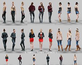 6 Realistic Female Characters Vol 3 3D model