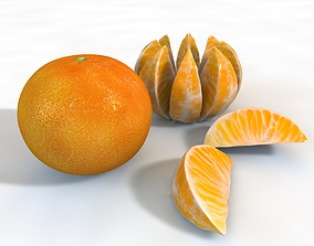 Mandarin fruit 3D model