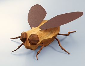 3D asset Abstract LowPoly PBR Fly