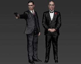 Godfather Pack Vito and Michael Corleone full color 3D
