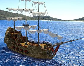 3D model Old Sail Ship