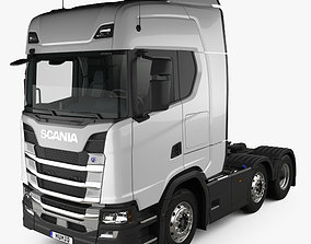 3D model Scania R Highline Tractor Truck 3-axle with HQ 1