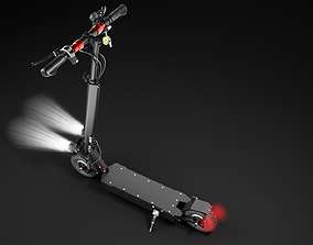 animated 3D Collection of 5 versions of scooters