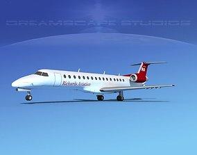 3D Embraer ERJ-140 Richards Aviation