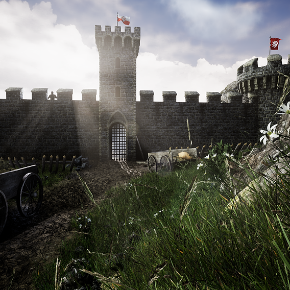 Medieval fortress UE4 project