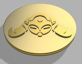 overwatch orisa coin 3D print model