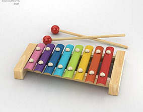 3D model Xylophone wooden