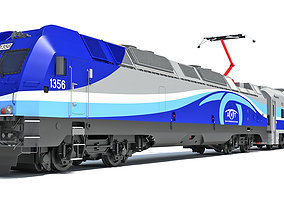 Exo Montreal Passenger Train 3D model