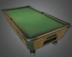 3D asset Pool Table Dive Bar - PBR Game Ready