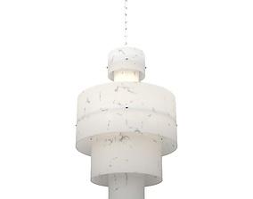 Modern cylindrical chandelier 3D