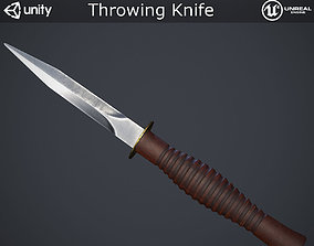 3D asset game-ready Throwing Knife