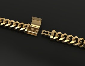 3D printable model Cuban Chain Bracelet Necklace Link 2