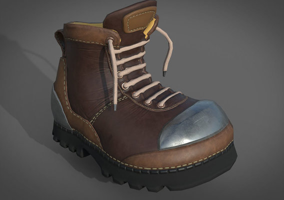 Low-poly shoes for stylized character