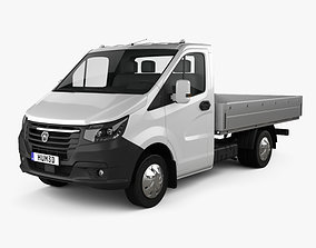 3D GAZ Gazelle Next Single Cab Flatbed 2020