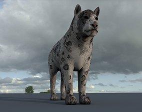 low-poly Tiger lion Grey model High Detailed 3D model