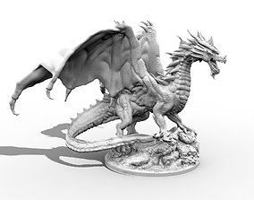 Adult Red Dragon three inch base 3D printable model