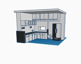 3D printable model Modern kitchen furniture