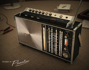 3D model Panalina Vintage Radio Satellit 1968