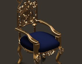 fabric architectural chair 3D model
