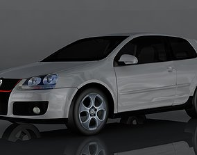 3D asset low-poly city Volkswagen Golf GTI