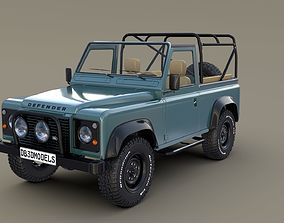 1985 Land Rover Defender 90 with interior ver 3 3D model