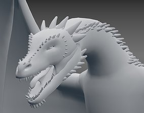 3D asset game-ready dragon Dragon