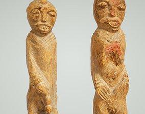 Primitive Sculpture Couple 2 3D model