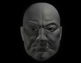 3D asset realtime Winston Churchill face