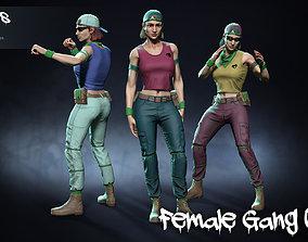 Female Gang 02 3D model