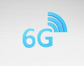 3D model Mobile Signal Symbol 6G v1 003