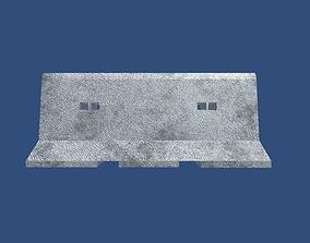 3D model Concrete Road Blocks